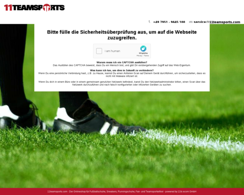11teamsports.de screenshot