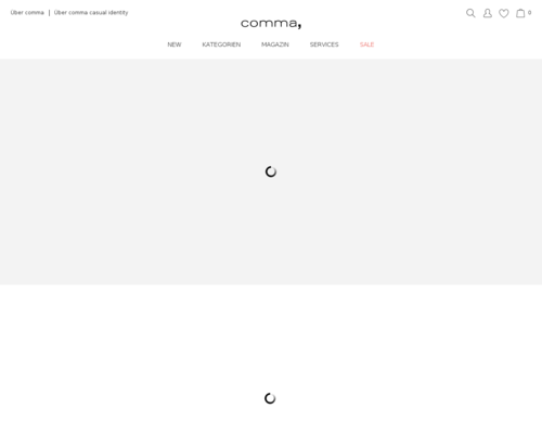 comma-fashion.de screenshot