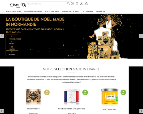 kusmitea.com screenshot