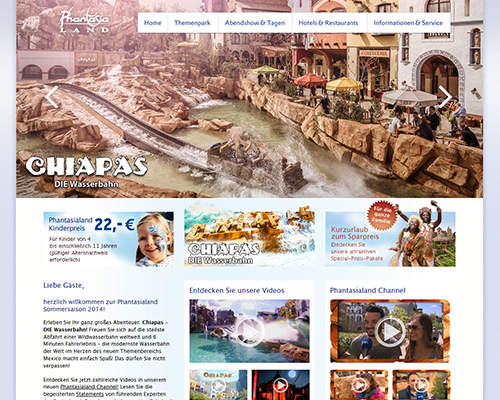 phantasialand.de screenshot