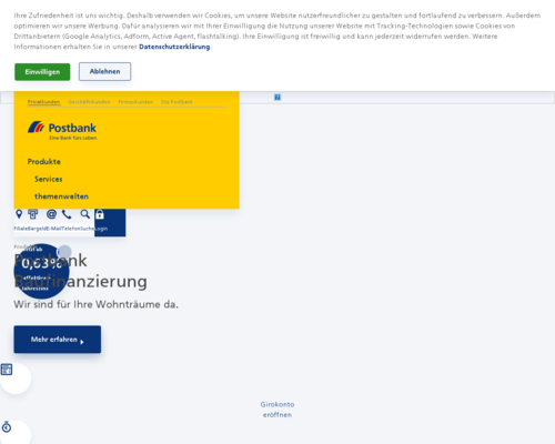 postbank.de screenshot