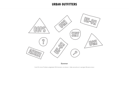 urbanoutfitters.de screenshot